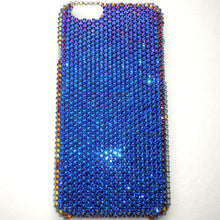 "For iPhone 6S Plus (5.5"") - Small 12ss Meridian Blue - Multi Color - Crystal Rhinestone BLING Back Case BeDazzled w/Crystals from Swarovski"