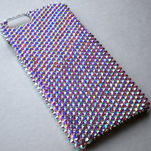 "For iPhone 6 (4.7"") - Iridescent Crystal AB - Aurora Borealis - Rhinestone BLING Back Case handmade with 100% Crystals from Swarovski"