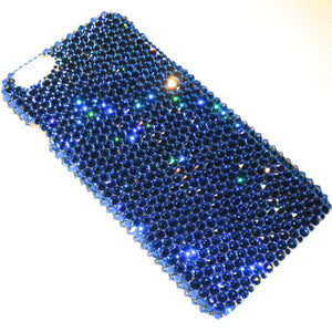 For Galaxy S7 Edge - Capri - Teal Ocean Blue - Rhinestone BLING Back Case handmade with 100% Crystals from Swarovski
