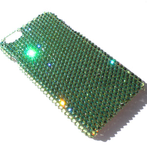 "For iPhone 7 Plus (5.5"") ~ Green Apple Peridot Diamond Rhinestone BLING Back Case bedazzled with 100% Crystals from Swarovski"