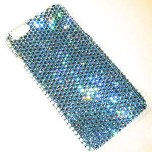"For NEW iPhone 6 Plus (5.5"") - Aqua - Aquamarine - Rhinestone BLING Back Case handmade with 100% Crystals from Swarovski"