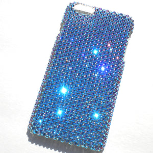 "For iPhone 6 Plus (5.5"") - Light Sapphire AB - Crystal Diamond Rhinestone BLING Back Case handmade with 100% Swarovski Elements"