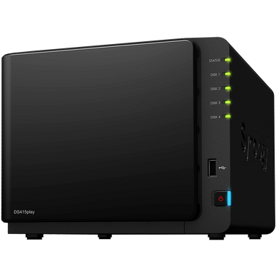 Synology DS415play DiskStation 4-Bay Pre-Configured Storage (NAS)
