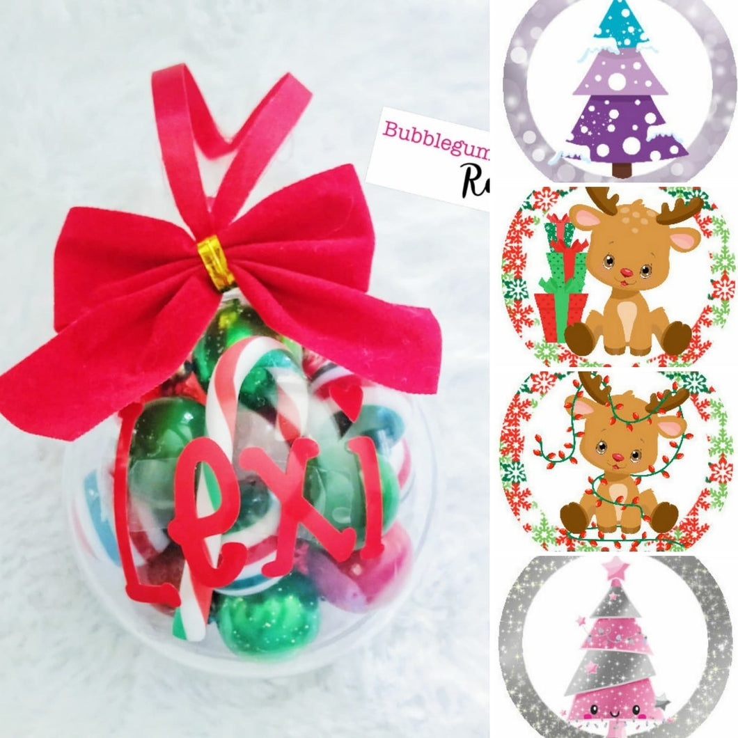 Modern Personalised Christmas Bauble Mini DIY Kit or Ready Made Necklace