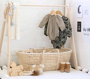 Clothes Rack with Matching Children's Wooden Coat Hangers