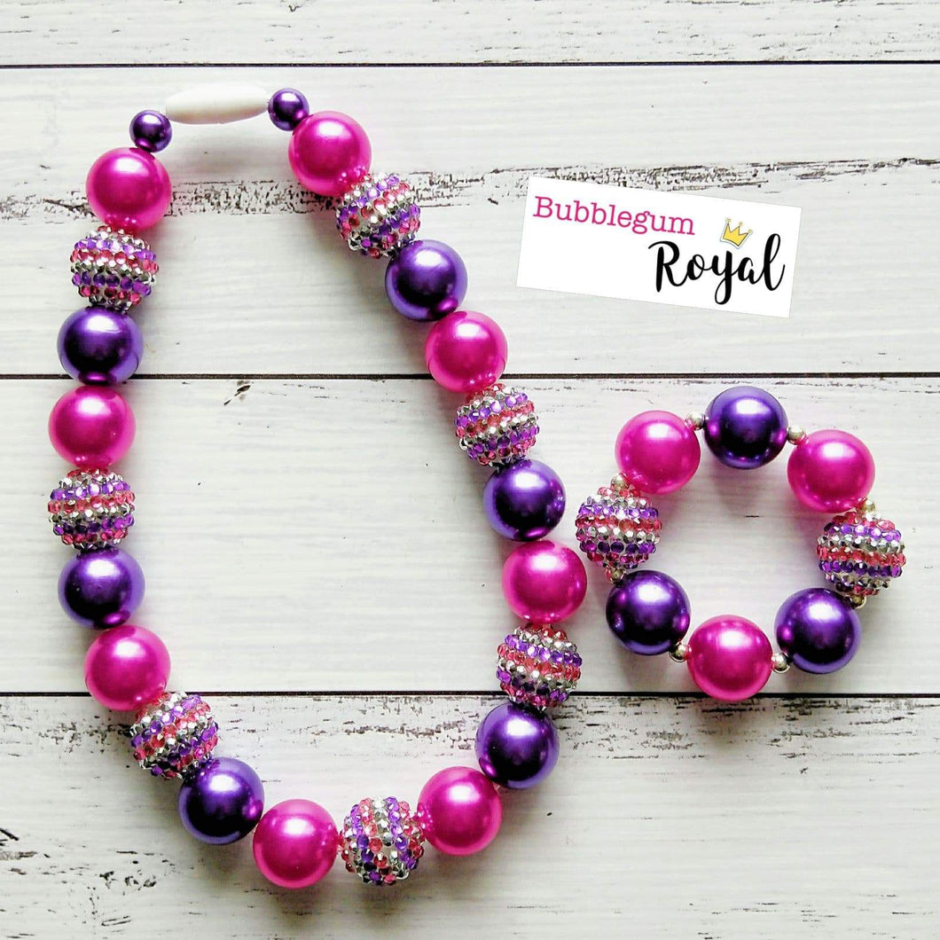 Magenta Magic Classic Necklace & Bracelet Set