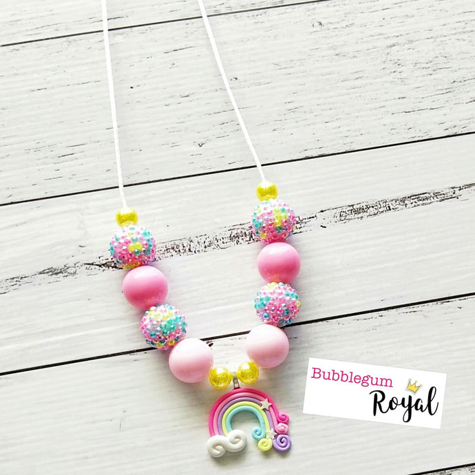 Pink Rainbow Necklace