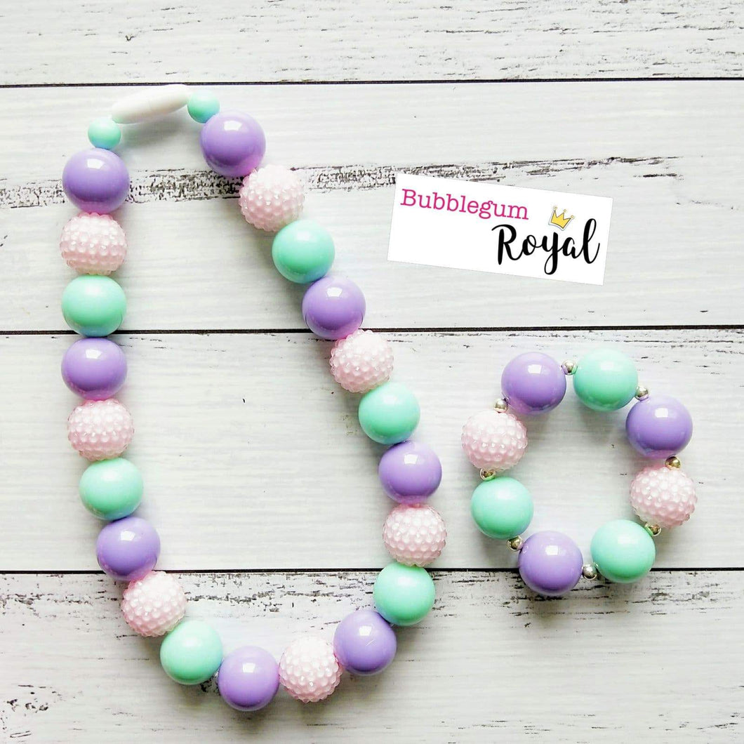 Pretty Pastel Classic Necklace & Bracelet Set