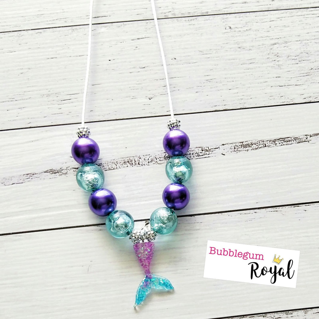 Purple Mermaid Necklace