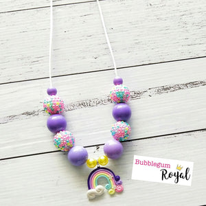 Purple Rainbow Necklace