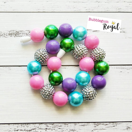 Sugar Plum Fairy Classic Bubblegum Bead Necklace