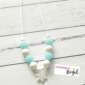 White Frozen Snowflake Necklace
