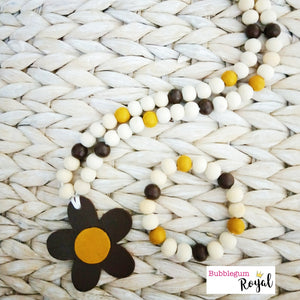 Daisy 1 - Burnt Umber Wooden Bead Necklaces & Bracelets