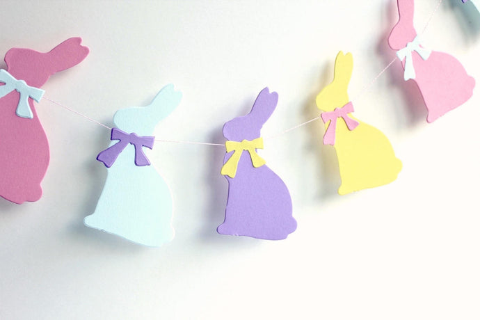 Pastel bunny Easter banner - Easter photo prop