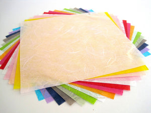 Mulberry handmade origami paper - 16 multicolored sheets