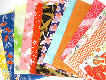Yuzen chiyogami Origami japanese paper - 14 colorful variety patterned sheets