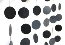 Black paper dot circles garland party decoration