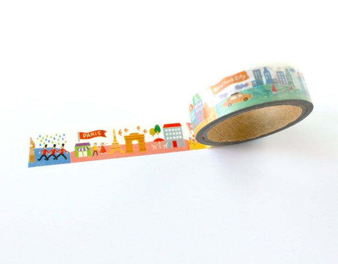 Washi tape (with New York, London, Amsterdam cityscapes print)