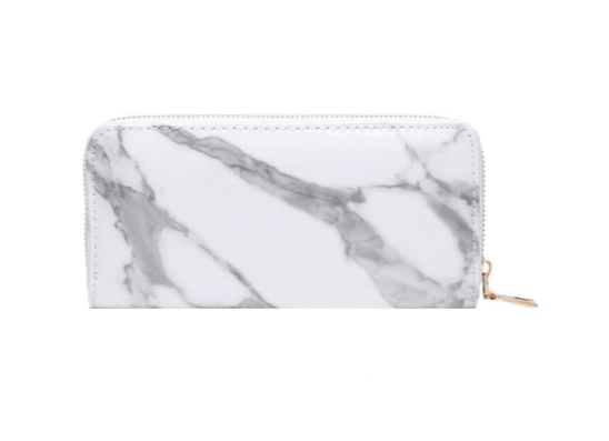Find trendy new clothes and accessories for women at Duddi. Shop now! Marble Clutch - hvid, , Bidou, Bidou
