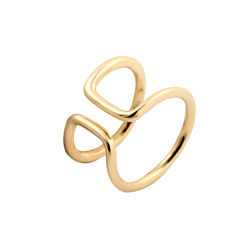 Find trendy new clothes and accessories for women at Duddi. Shop now! Double Loop Ring, , Bidou, Bidou