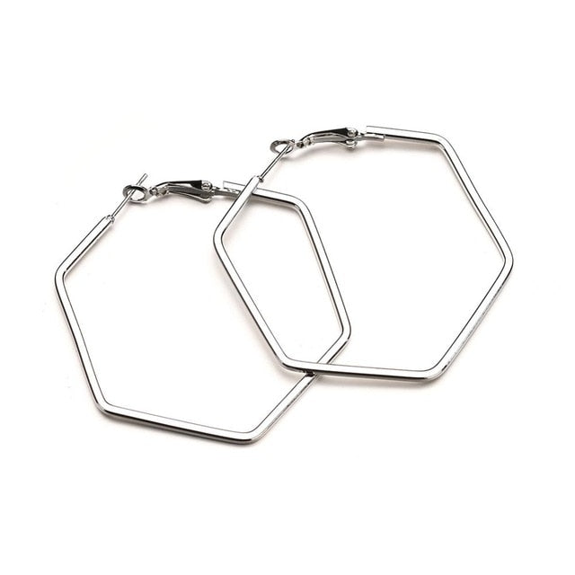 Find trendy new clothes and accessories for women at Duddi. Shop now! Hexagon Hoops, , Bidou, Bidou