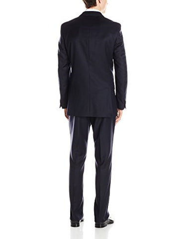 Ben Sherman Men's Kings Navy Solid Two-Button Side-Vent Suit