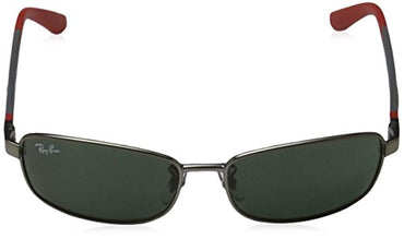 Ray Ban Junior RJ9533S Sunglasses-242/71 Matte Gunmetal (Green Lens)-51mm