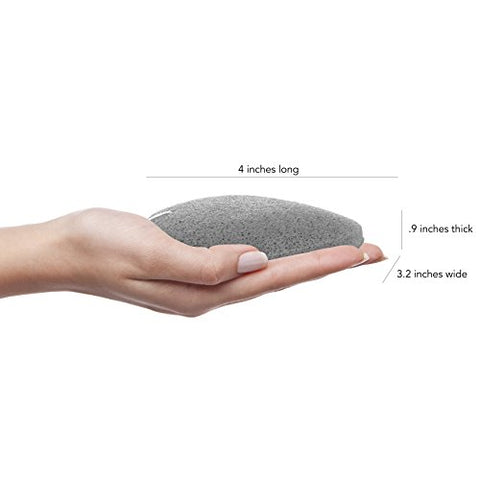 MY Konjac Sponge All Natural Korean Facial Sponge with Activated Bamboo Charcoa