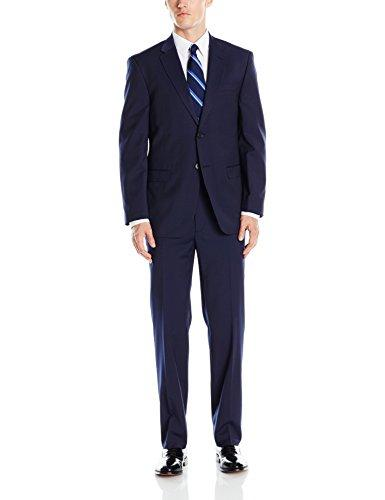 Tommy Hilfiger Men's Two Button Pin Stripe Suit