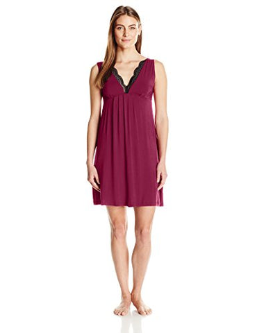 Arabella Women's Chemise with Lace Neckline