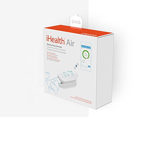 iHealth Fingertip Pulse Oximeter for Apple and Android, Measures Blood Oxygen Saturation, Perfusion Index, Pulse Rate
