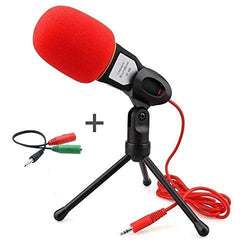 Professional Condenser Microphone,Buycitky Mic with Stand for PC Laptop Skype Recording with Windscreen Sponge Sleeve