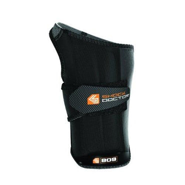 Shock Doctor Ultra Wrist Sleeve Wrap with Gripper, Black, Large, Right