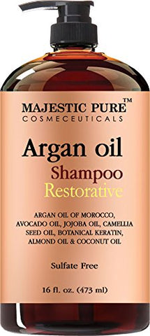 Argan Oil Shampoo from Majestic Pure Offers Vitamin Enriched Gentle Hair Restoration Formula for Daily Use, Sulfate Free, Moroccan Oil & Potent Natural Ingredients, for Men...
