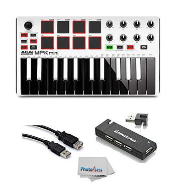 Akai Professional MPK MINI MK2 MKII | 25-Key Ultra-Portable USB MIDI Drum Pad & Keyboard Controller