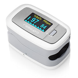 MeasuPro Fingertip Pulse Oximeter with Rotating OLED Display, Oxygen Sensor and Pulse Rate Monitor, with Carry Case and Lanyard, CE and FDA Approved