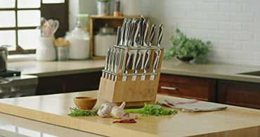 Hammer Stahl HS-6300R Classic Knife Collection Cutlery Block Set, Stainless Steel
