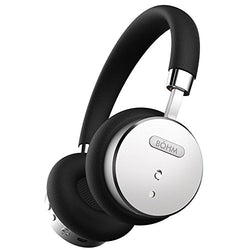 BÖHM B66 Bluetooth Wireless Noise Cancelling Headphones with Inline Microphone - Black / Silver