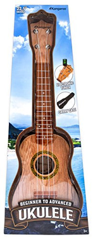 "22.5"" Ukulele with Electronic Tuner, Strap, Picks, Carrying Case & Songbook"