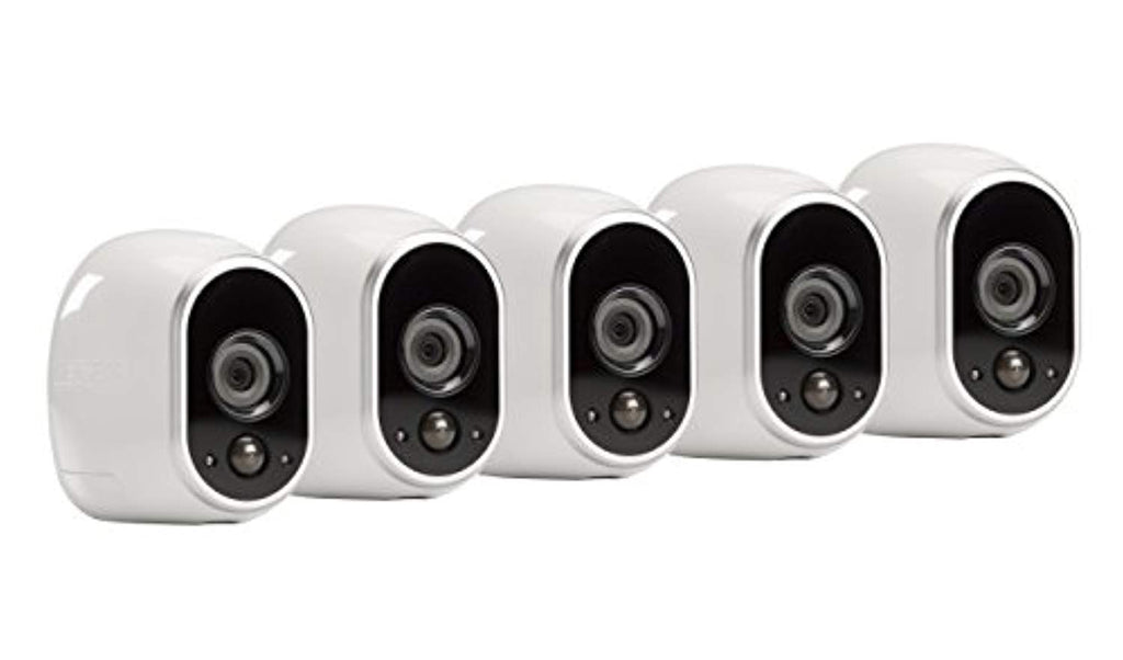 Arlo Technologies by NETGEAR Security System - 5 Wire-Free HD Cameras | Indoor/Outdoor | Night Vision (VMS3530), Works with Alexa