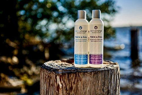 Organic Vegan Natural Hair Growth Shampoo and Conditioner Set - Sulfate Free - Hair Regrowth With Vitamins - Hair Loss Products - Color Treated or Curly Hair - For Women and Men (4oz) - Made in USA