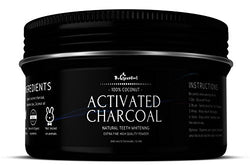 Activated Coconut Charcoal Powder W/ 100% Natural & Magical Teeth Whitening Formula - Eco Friendly Packaging - Safe & Effective Teeth Whitener Helps Fighting Cavities,...