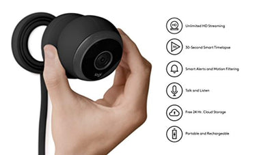 Logitech Circle Wireless HD Video Battery Powered Security Camera with 2-Way Talk
