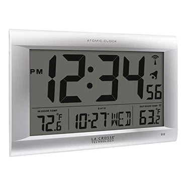 La Crosse Technology 513-1311OT Jumbo Atomic Digital Wall Clock with Out Temperature