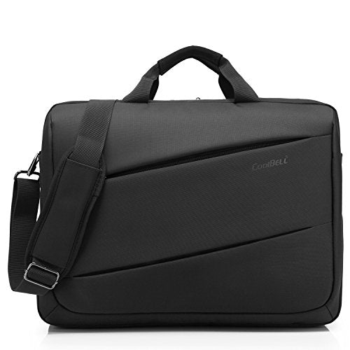 CoolBELL 17.3 inch Laptop Messenger Bag Multi-functional Briefcase Multi-compartment Handbag Include shoulder strap For Macbook / Acer / HP / Dell Alienware / Lenovo / Men/Women (Black)