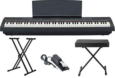 Yamaha P115 88 Weighted Key Digital Piano Bundle with Knox Double X Stand, Knox Large Bench and Sustain Pedal