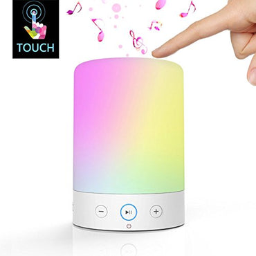 LightStory LED Bedside Lamp Music Lamp, Bluetooth 2.1, Micro SD support, FM radio, Color Changing Touch Table Lamp with Night Light
