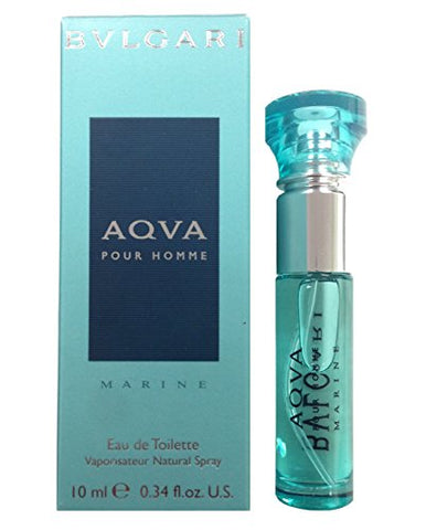 Aqva Marine Eau De Toilette Spray Mini for Women by Bvlgari, 10g (0.33) Ounce