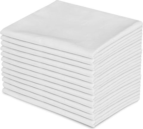 12 Pillowcases - Queen White – Brushed Microfiber - Maximum Softness - Elegant Double-Stitched Tailoring  - Set of Dozen Pillowcases - by Utopia Bedding