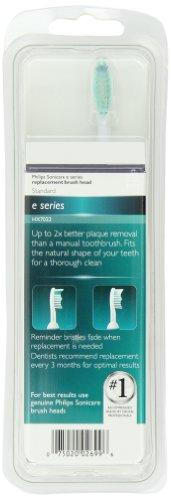 Philips Sonicare E-Series replacement toothbrush heads, HX7022/66, 2-pack